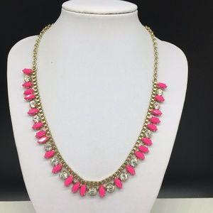 J CREW Rhinestone Necklace JCREW Pink Clear